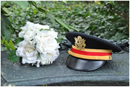 bouquet-military-hat